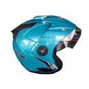 OXY Helm Falcon Half-face Solid Ice Blue 1