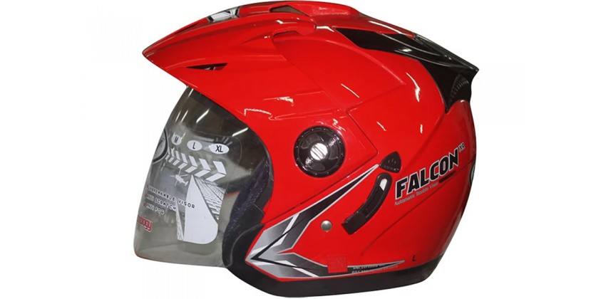 OXY Helm Falcon Half-face Solid Red 0