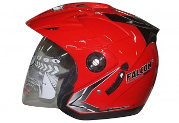 OXY Helm Falcon Half-face Solid Red