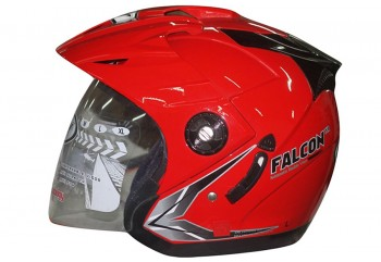 OXY Helm Falcon Solid Half-face Royal Red