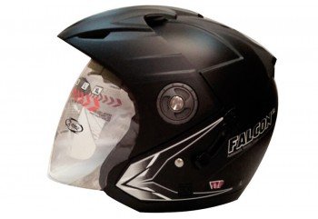 OXY Helm Falcon XR solid Half-face Black Doff