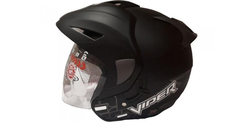 OXY Helm Viper Half-face Black Doff 0