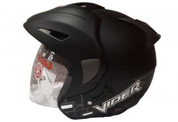 OXY Helm Viper Half-face Black Doff