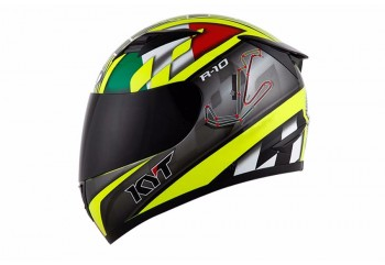 R-10 San Marino Circuit Full-face Kuning, Hitam Yellow Fluo / Black