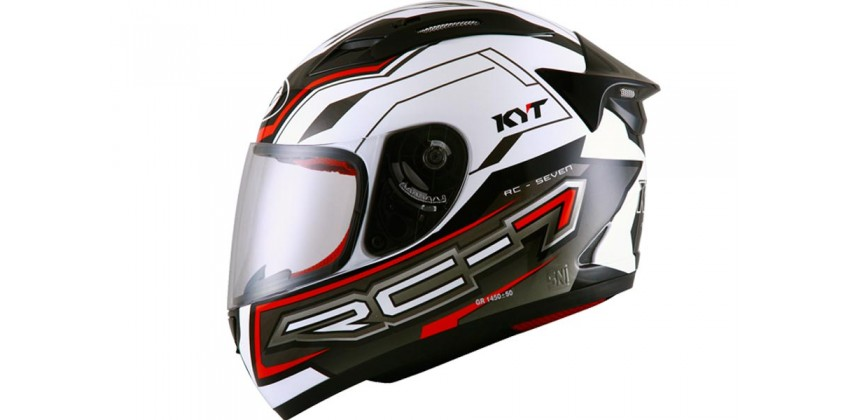 RC Seven #14 Helm Full Face - White/Red Fluo/Black 0