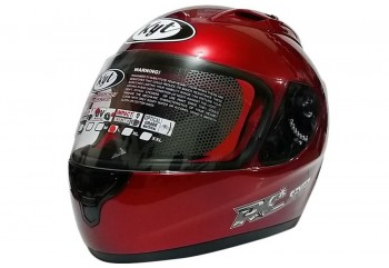 RC Seven - Red Maroon  Helm Full-face Merah M