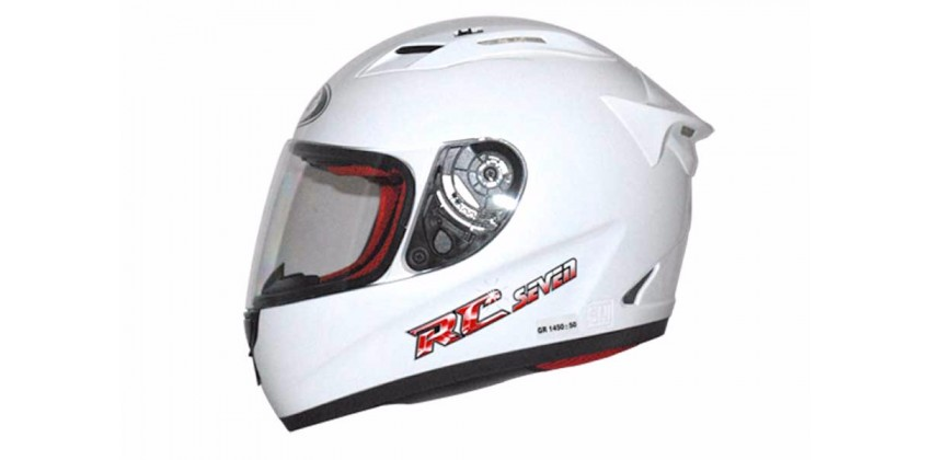 RC Seven - Solid Dazzling White  Helm Full-face Putih L 0