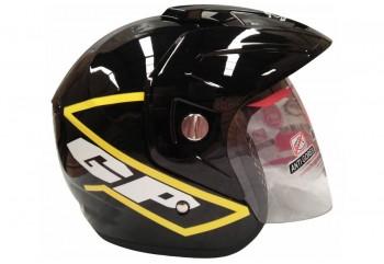GP Helmet Race Helm Half Face Hitam