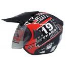 ARL Semi Cross 19 Years Black Glossy  Helm Half-face 2