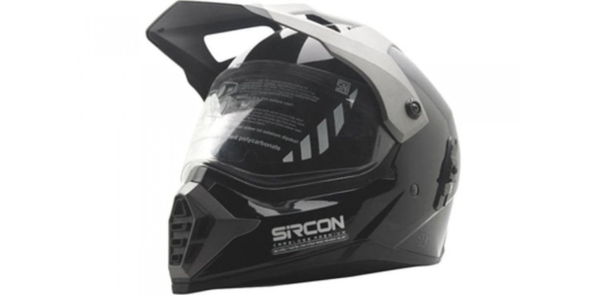 Sircon Supermoto Deep Black Full-face Full-face 0