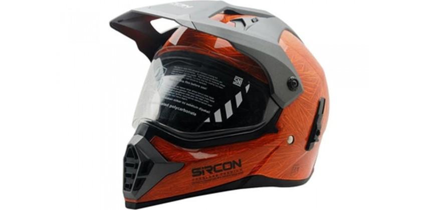 Sircon Supermoto Mutan FZ Orange Full-face Full-face 0