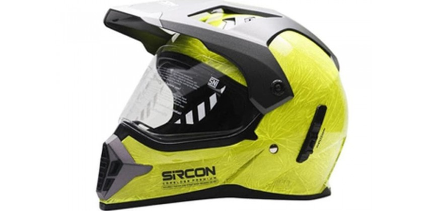 Cargloss Sircon Supermoto Mutan FZ Yellow  Helm Full-face 0