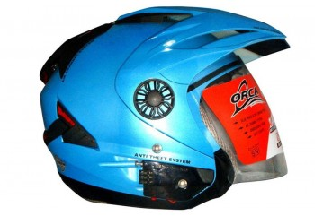 Orca Helmet Spider Helm Half Face Hitam
