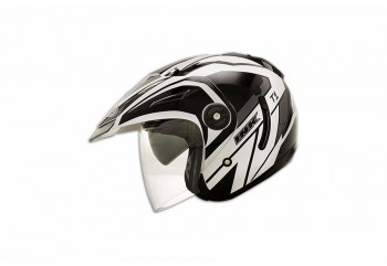 INK T1 #1 Helm Half Face Hitam