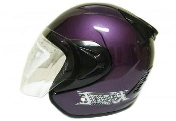 THI Helmet Basic Rookie Half Face Purlpe Metalic