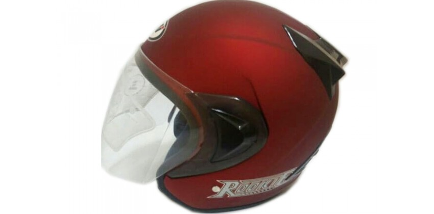 THI Helmet Basic Rookie Half Face Red Doff 0