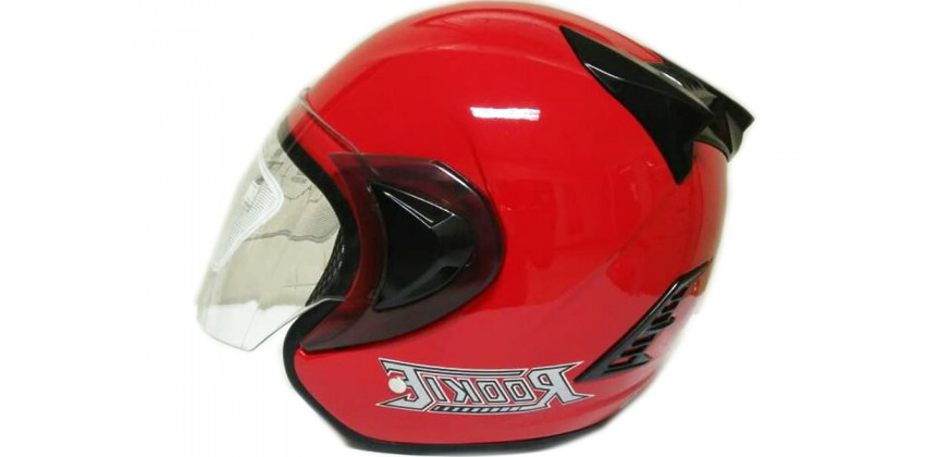 THI Helmet Basic Rookie Half Face Red Ferari 0