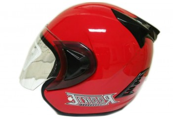 THI Helmet Basic Rookie Half Face Red Ferari