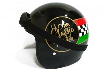 THI Helmet Classic Rider Retro Black