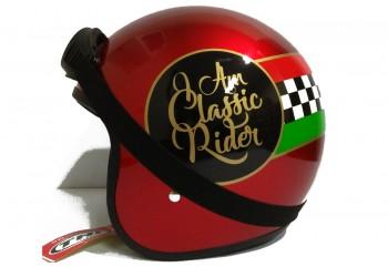 THI Helmet Classic Rider Retro Red