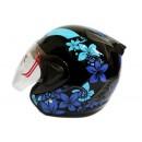 THI Helmet Flower Series Half Face Blue Black 0