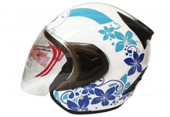 THI Helmet Flower Series Half Face Blue White