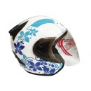THI Helmet Flower Series Half Face Blue White 1