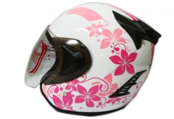 THI Helmet Flower Series Half Face Pink White