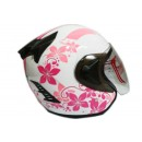 THI Helmet Flower Series Half Face Pink White 1
