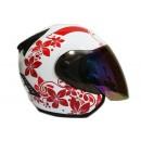 THI Helmet Flower Series Half Face Red White 1