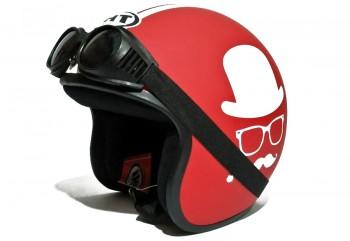 THI Helmet Gentleman -  Red Doff Helm Retro