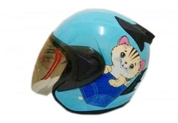 THI Helmet Kyuti Half Face Blue