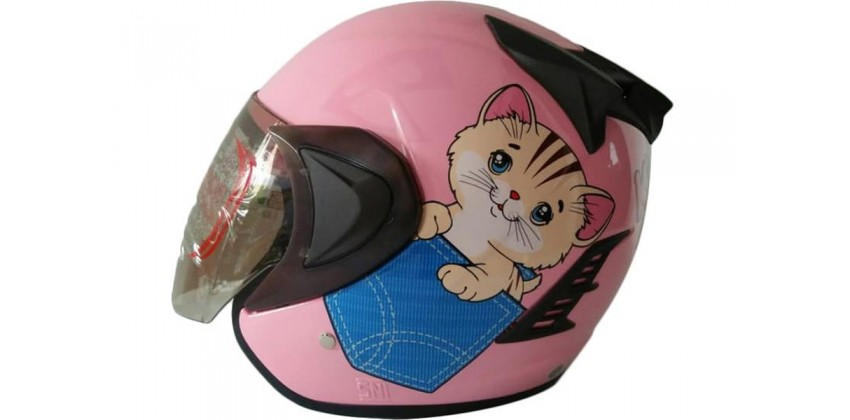 THI Helmet Kyuti Half Face Pink 0