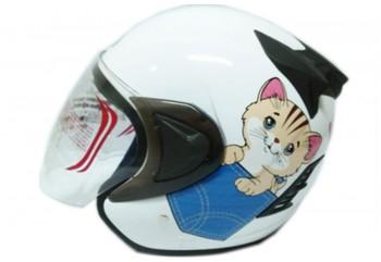 THI Helmet Kyuti Half Face White