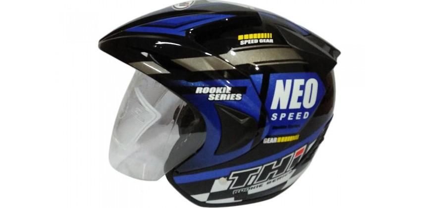 THI Helmet Neo Speed Half Face Blue Black Gloss 0