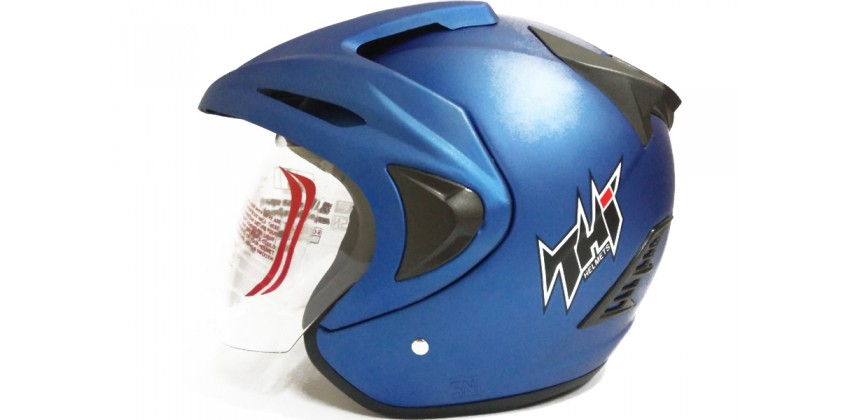 THI Helmet Rookie solid Half Face Blue Doff 0