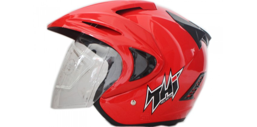 THI Helmet Rookie solid Half Face Red Ferrari 0