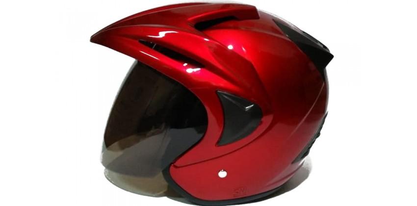 THI Helmet Rookie solid Half Face Red maroon 0