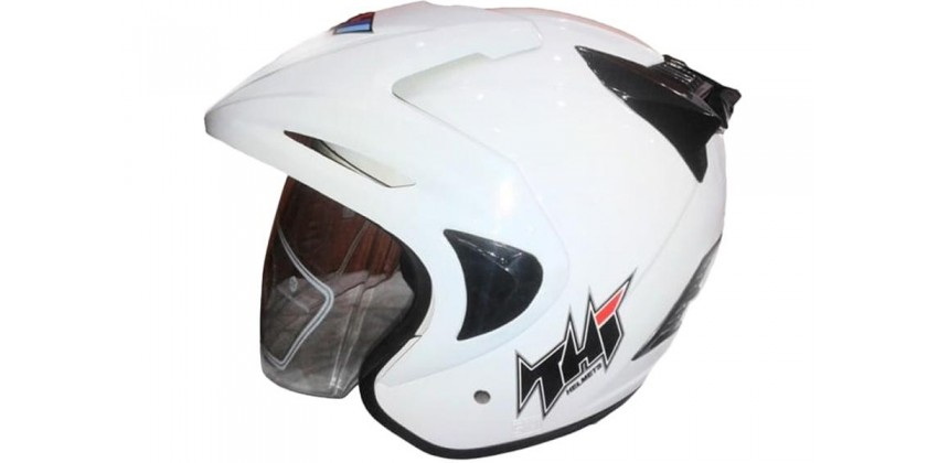 THI Helmet Rookie solid Half Face White Glossy 0
