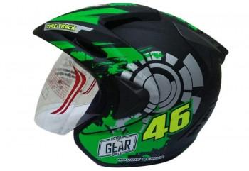 THI Helmet Rossi 46 Series Half Face Black Doff