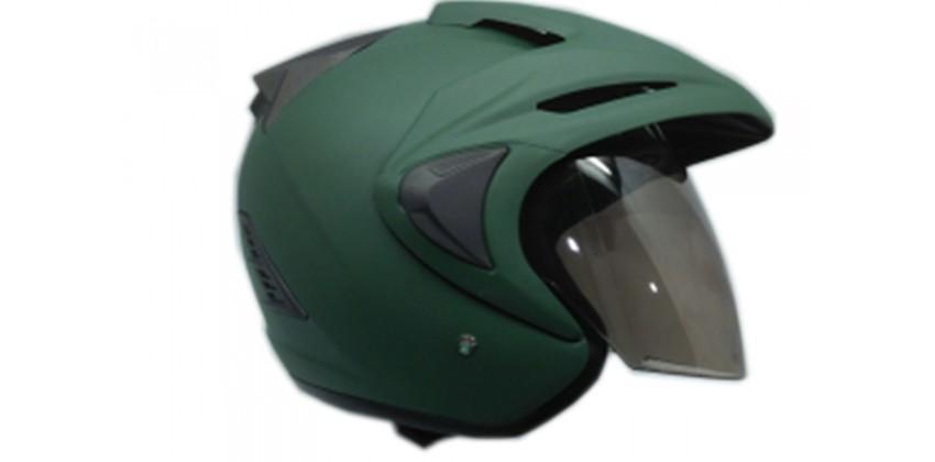 THI Helmet TNI Half Face Green Army Doff 0