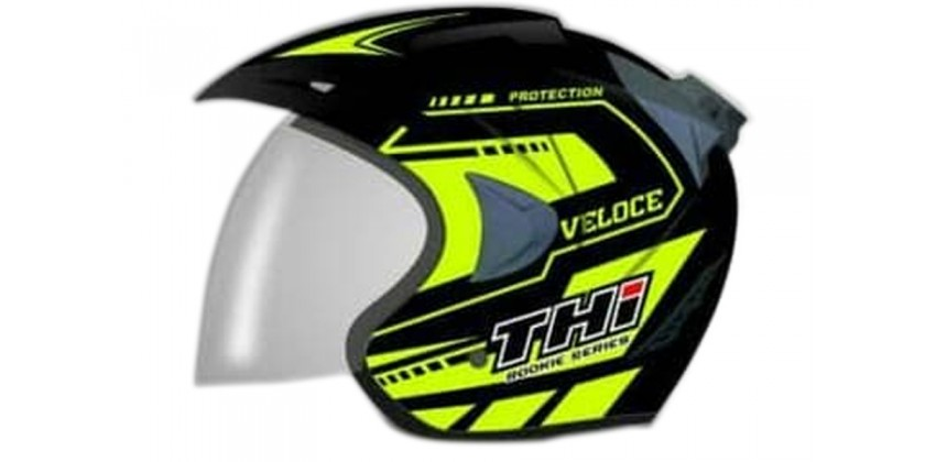 THI Helmet Veloce Half Face Yellow 0