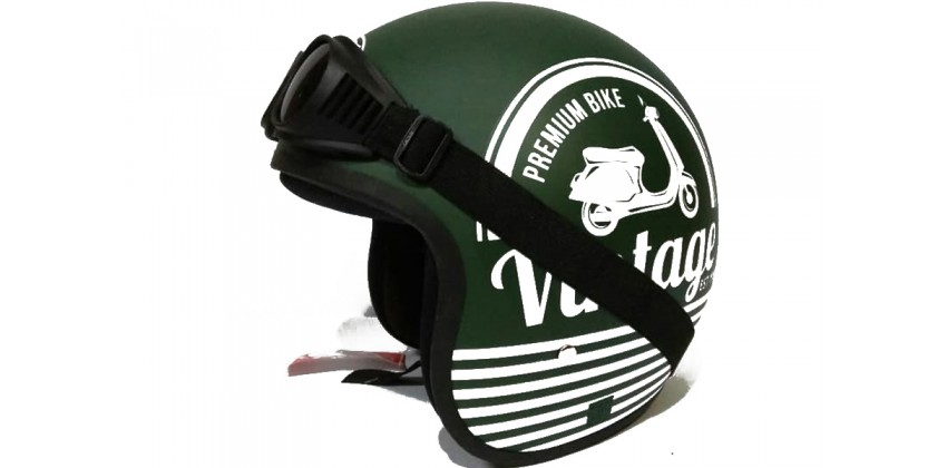 THI Helmet Vintage Army Kacamata Retro 0