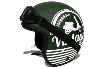 THI Helmet Vintage -  Army Kacamata Helm Retro