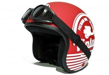 THI Helmet Vintage -  Red Kacamata Helm Retro