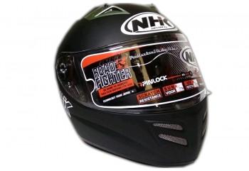NHK Terminator 2V Solid Doff Helm Full Face Hitam
