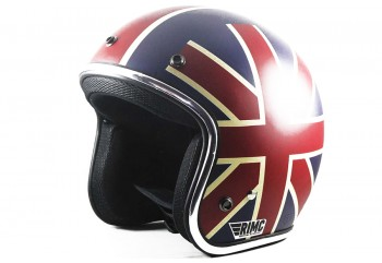 Sada Helmet Unionjack Helm Retro Biru