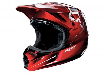 V4 Future  Helm Cross Merah XXL