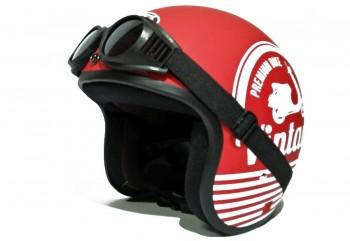 THI Helmet Vintage Helm Retro Hitam