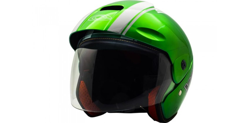 Cargloss YCB Line Two White Vivid Green  Helm Half-face 0